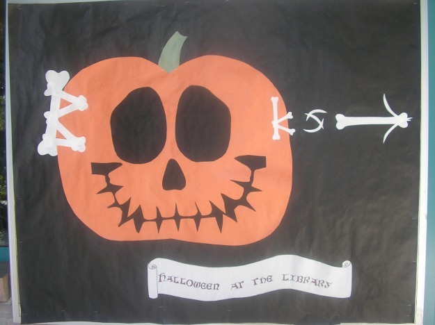 My first completed bulletin board, Halloween 2009.