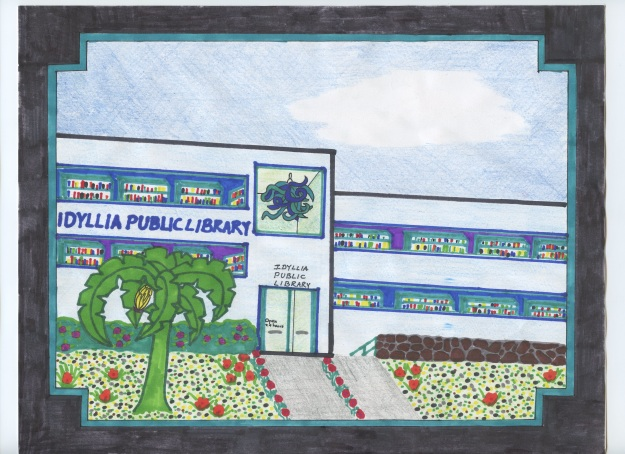 Postcard from the Idyllia Public Library
