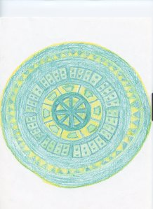 A mandala inspired by Aztec design