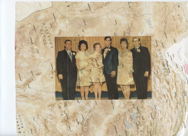 My parents' wedding, superimposed on a map