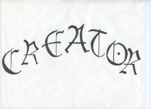 Some lettering work done for inspiration in the early days of the Alphabet of Desire. The font is based on Lucinda Black Letter.