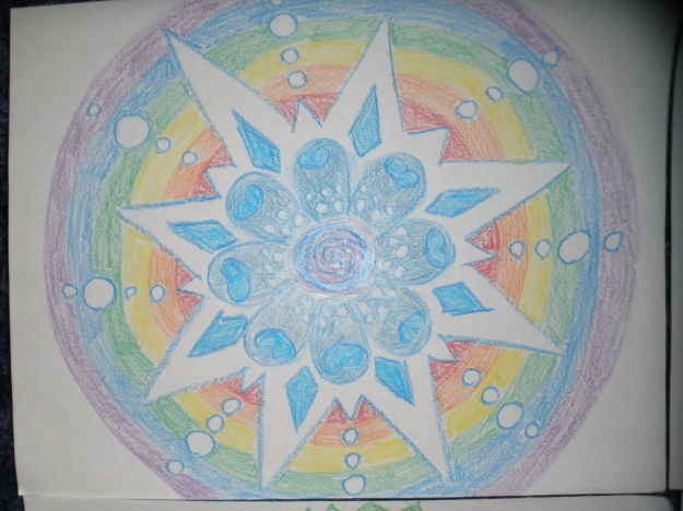 The first of 100 mandalas