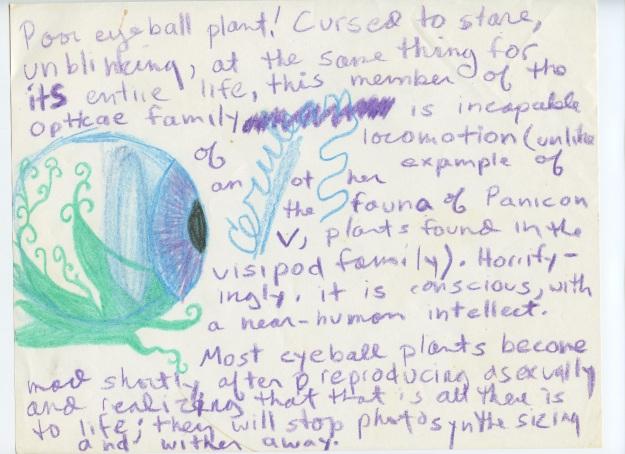 The cursed eyeball plant