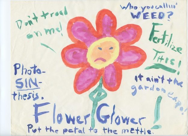 I am an angry flower.