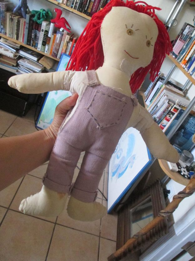 The Monica Doll, slightly worse for the wear