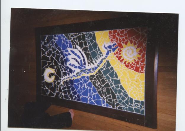 My late lamented mosaic dragon