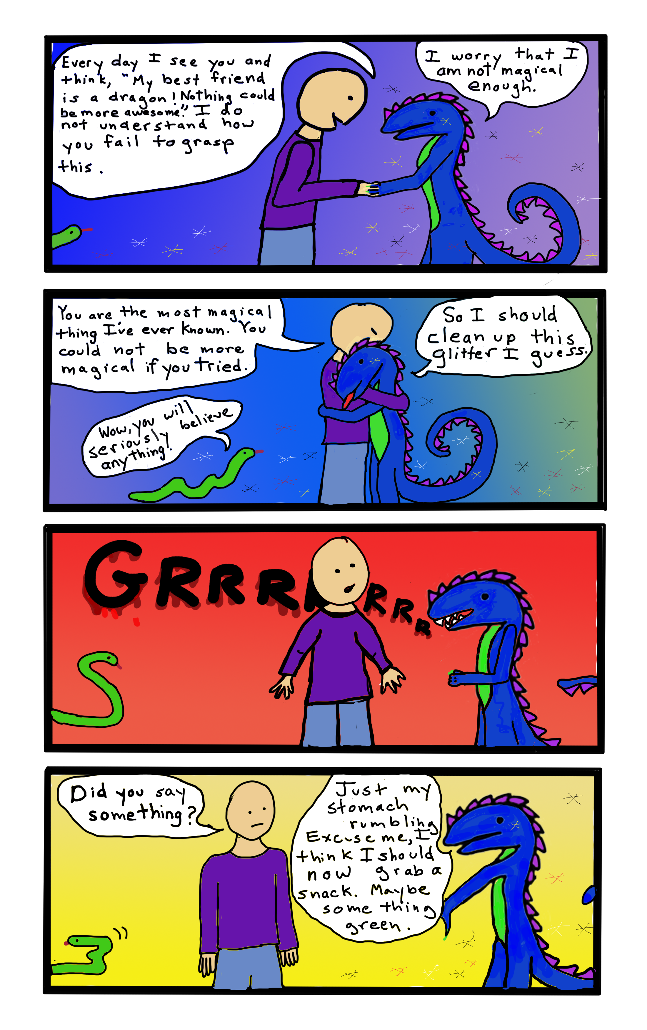 Is this a webcomic? Everything is confusing when your brain forgets to power down once in a while.