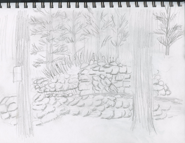 A fast sketch of the Eldon Ruins