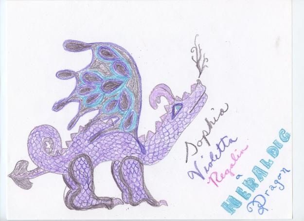 Sophia Violetta Regalia, a heraldic dragon