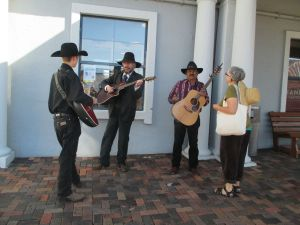 Singing cowboys for the win! The one on the right is my friend's friend, and he was very wonderful.