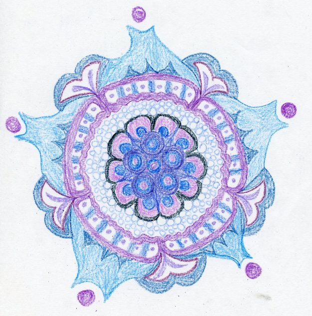 A beautiful mandala with no lateral symmetry