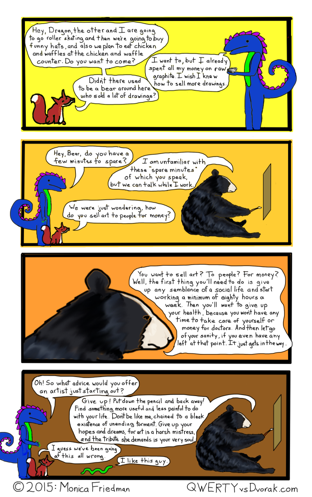 No bears were harmed by anyone other than themselves in the making of this comic.
