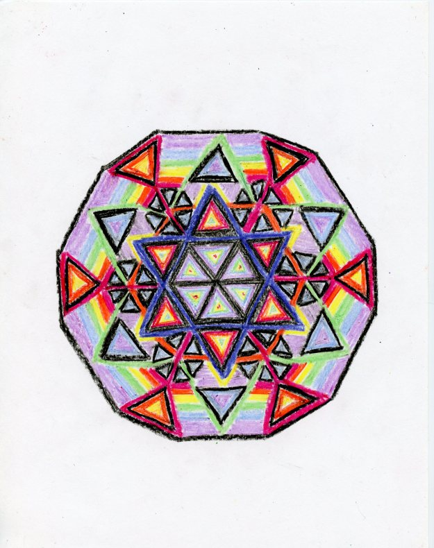 This mandala would probably appeal to hippie Jews. Also, hippie Rastafarians. Although in my experience that phrase is basically redundant.