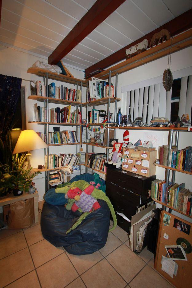 Cozy reading corner.