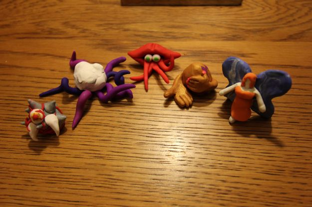 From left to right: Chronic Pain and Insomnia, Foggy Delusion, Insatiable Desire, Crippling Self-Doubt, and Winged Hope