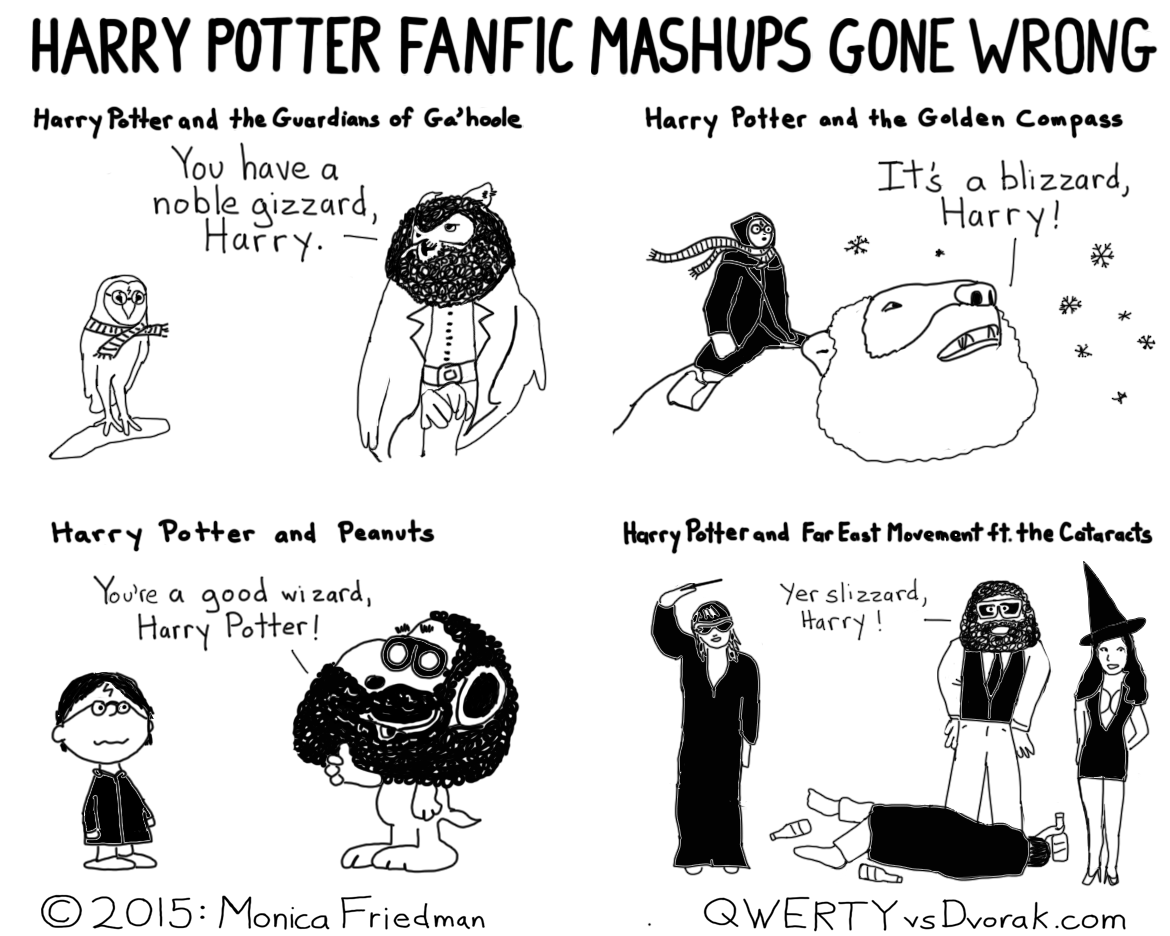 When Harry Potter Fanfic Mashups Go Wrong | qwertyvsdvorak