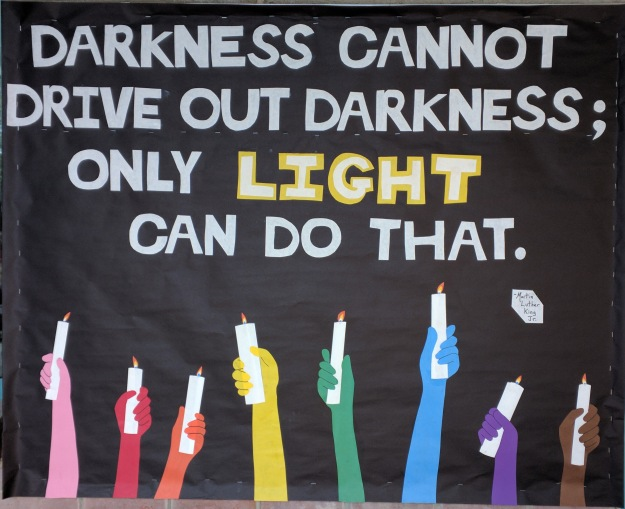 darkness light bulletin board 2017