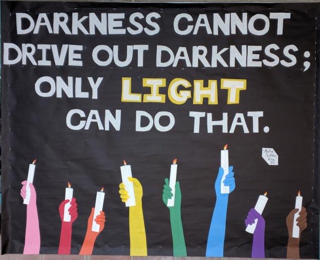 darkness light bulletin board 2017
